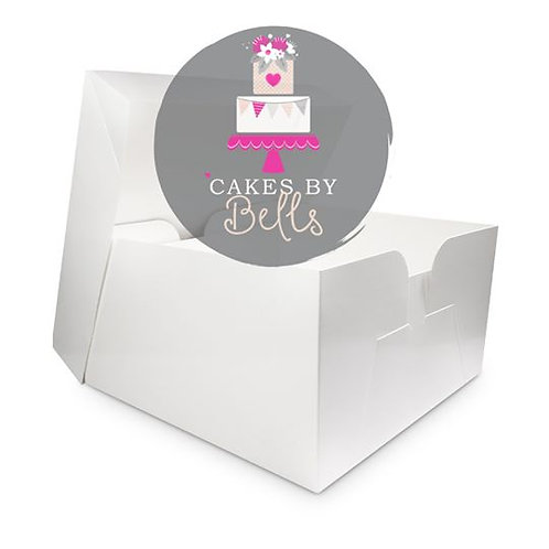 White Cake Box with Lid