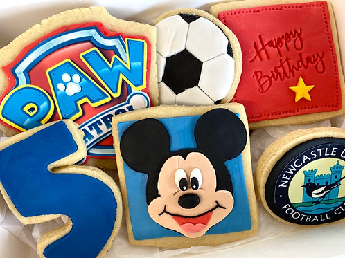 Personalised themed biscuit box