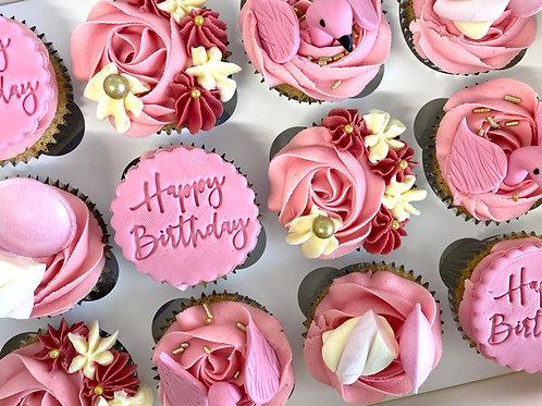 Flamingo sweetie cupcake box