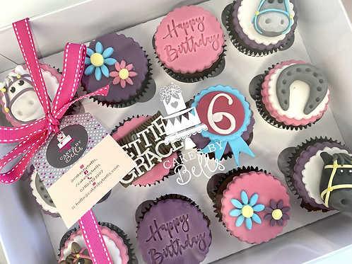 Personalised themed cupcake box