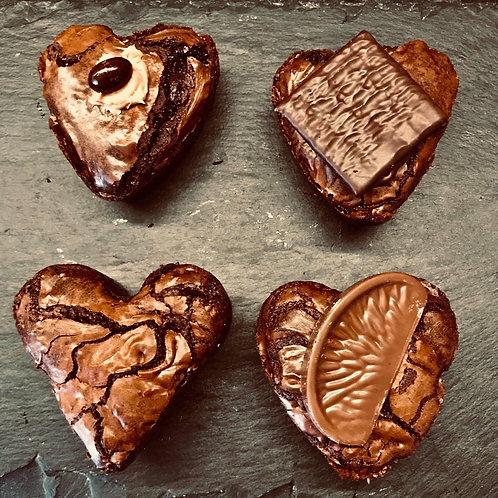 Indulgent *GLUTEN FREE* brownie hearts by DELIGHTFULLY DECADENT