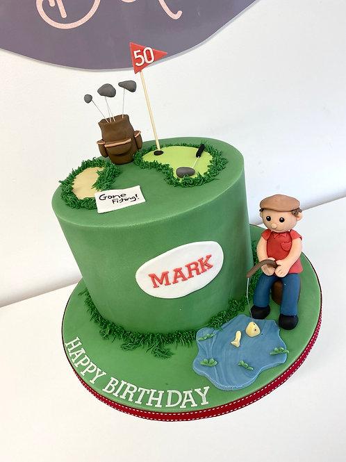 Golf or Fishing? Cake