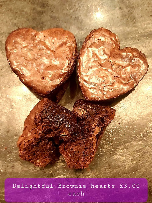 Individual brownie hearts by DELIGHTFULLY DECADENT