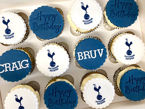 'Football mad' cupcake box