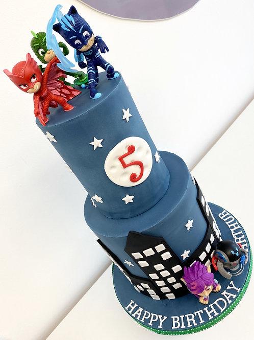 PJ Masks 'Skyline' cake