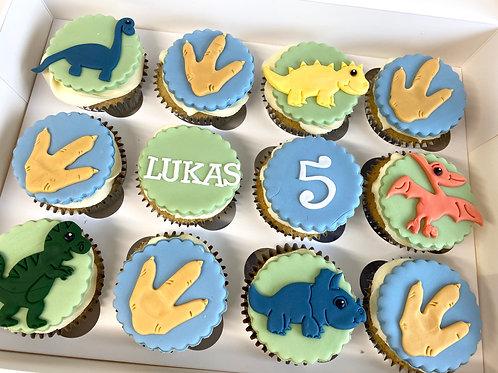 Dinosaur cupcake box