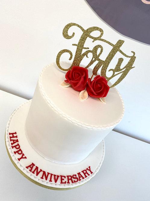 Rosebud 'Happy Anniversary' cake