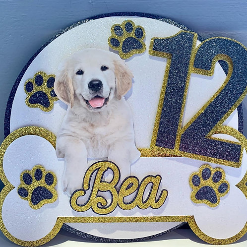 Doggy themed topper