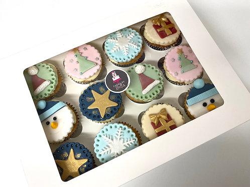 Festive cupcake gift box