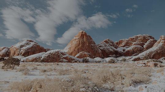 brown rocky mountain under blue sky duri