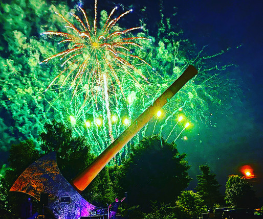 Fireworks behind the Axe