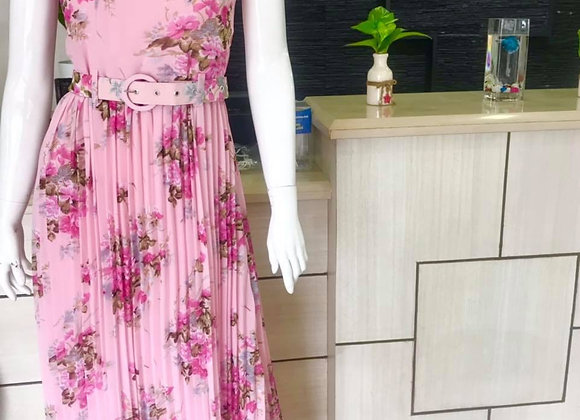 Georgtte floral gown (pink)
