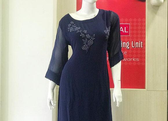 Navy blue designer kurthi