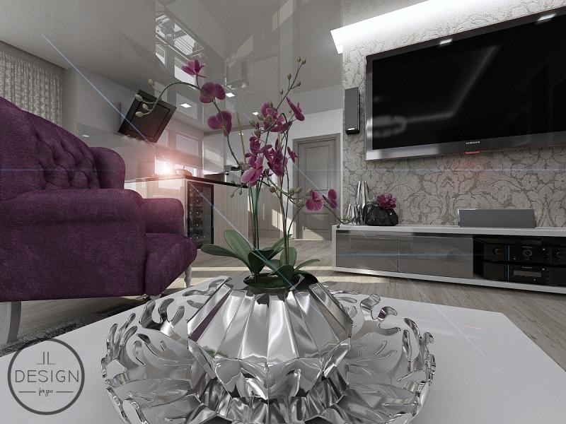 Návrh interiéru - obývacia izba