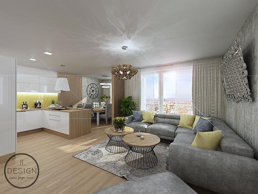 LL design - interiérový dizajn - obývacia izba