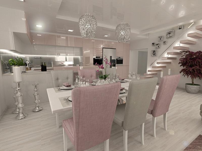 Návrh interiéru - kuchyňa