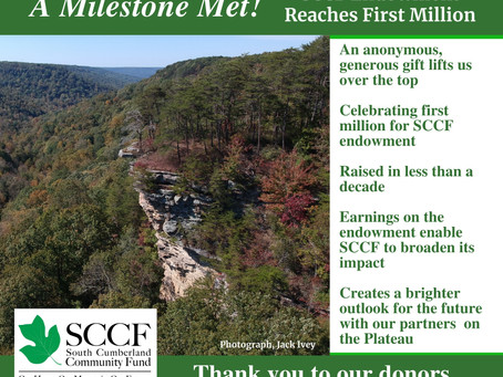 Big News for SCCF Endowment