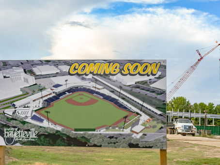 Construction is underway in earnest on Fayetteville's Minor League Baseball stadium