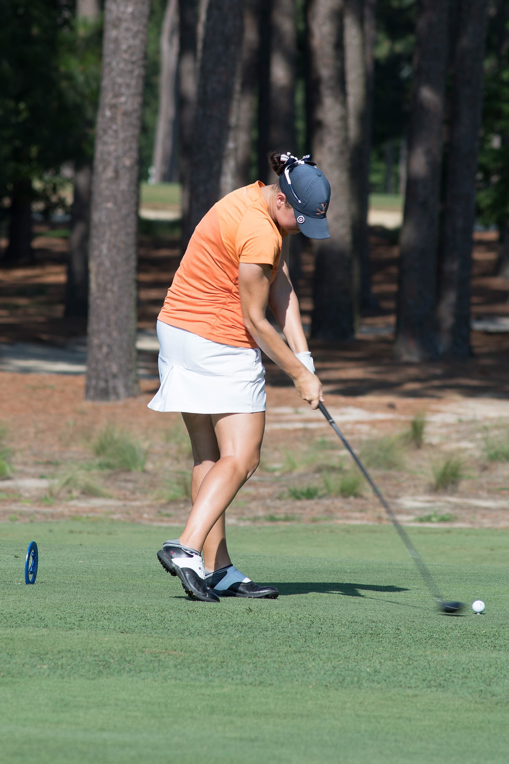 Anna Redding has made it her 4th consecutive Quarter Finals round at the Women's North and South Amateur. This photo of Redding was taken in 2017 on Pinehurst No. 2.
