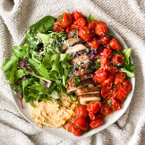 The best salad (marinated tomatoes and mushrooms)
