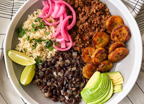 Spicy beef, black beans, cilantro lime rice + bonuses!