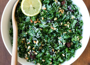 Nutty citrus kale salad