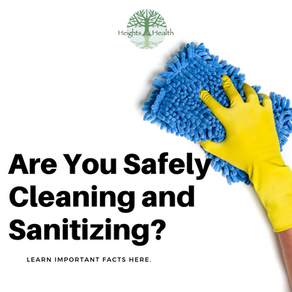 Are You Safely Cleaning and Sanitizing?