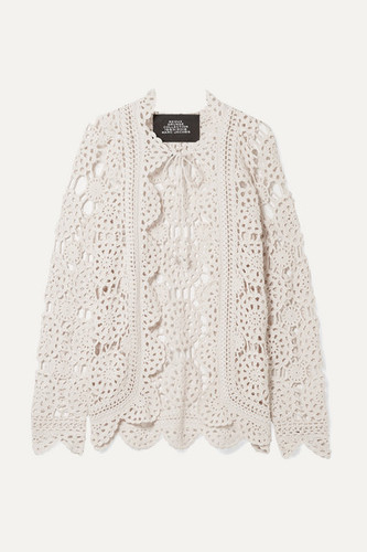 Marc Jacobs crochet cardigan - assisted with crochet sample development and garment development
