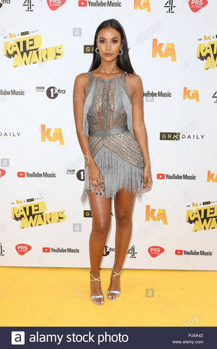 Julien Macdonald knit dress for Maya Jama- assisted with knitting, embroidering and assembling panels