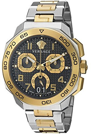 VERSACE DYLOS CHRONO TWO TONE