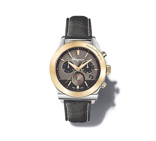FERRAGAMO '1899' WATCH IP GOLD/BLACK