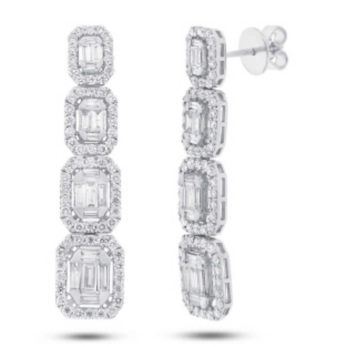 'ONE NIGHT OUT' Baguette Diamond Earring