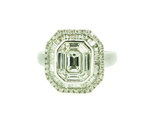 Emerald Shape Engagement Ring
