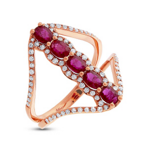 'SEQUENCE' Ruby Ring