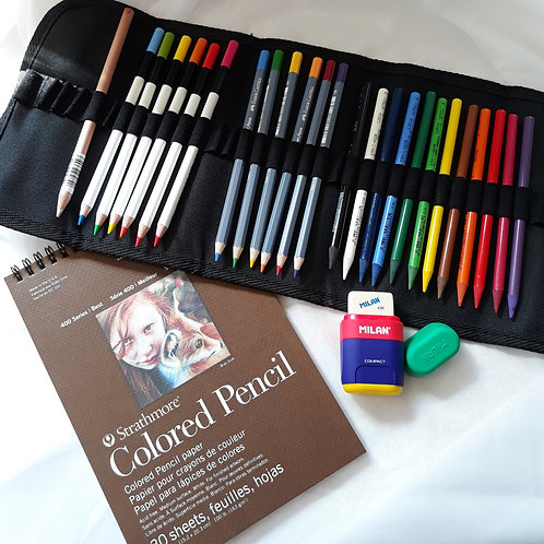 Color Pencil Roll-Up Set