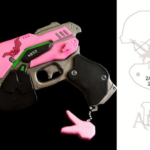 D.VA GUN- OverWatch (molde)
