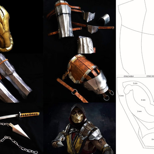Molde Cosplay - Scorpion (Mortal Kombat 11)