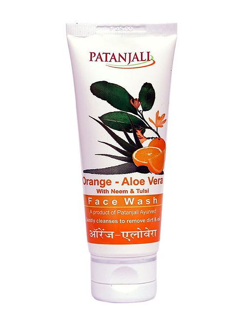 Patanjali Orange and Aloe Vera Face Wash-60 g