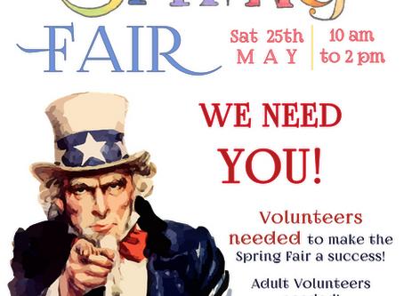 Volunteer for Spring Fair!
