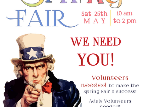 Volunteer for Spring Fair!