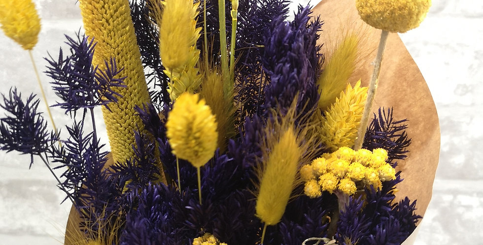 "Flores ""Yellow & Blueviolet"" - Grande"