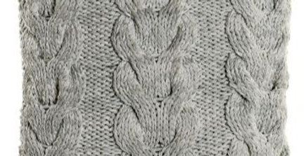 Almofada Tricot Espiga - Cinza