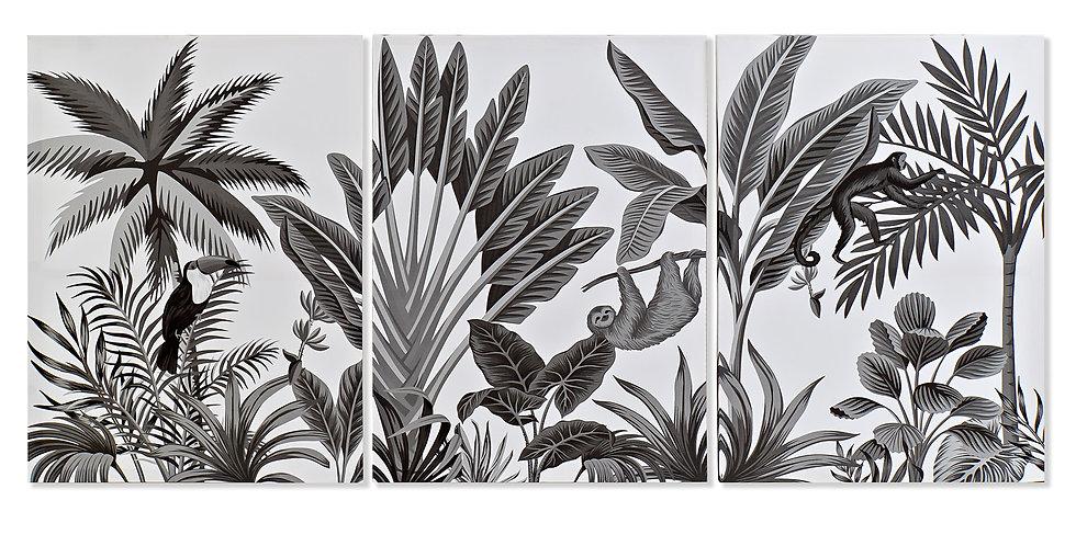 Conjunto de 3 telas - Tropical
