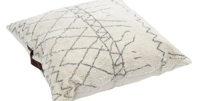 Almofada Chão Algodão - Rombos Brancos