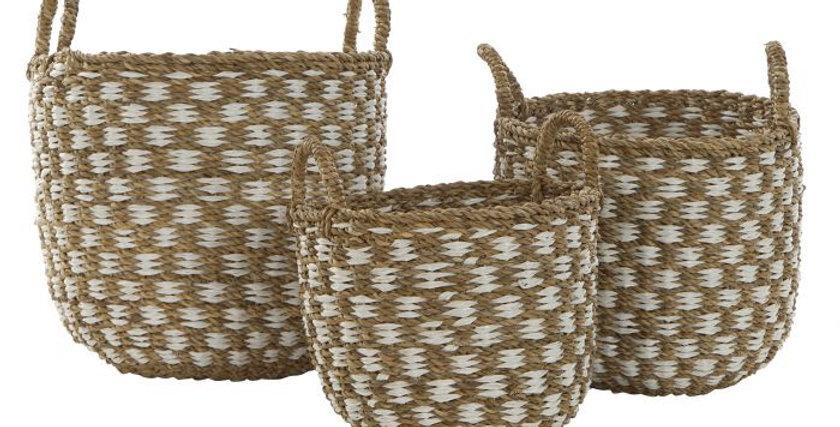 Conjunto de 3 cestos - Natural