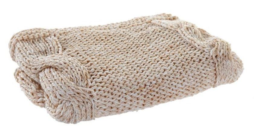 Manta Decorativa Poliéster- Coral