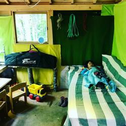 小屋で休めます