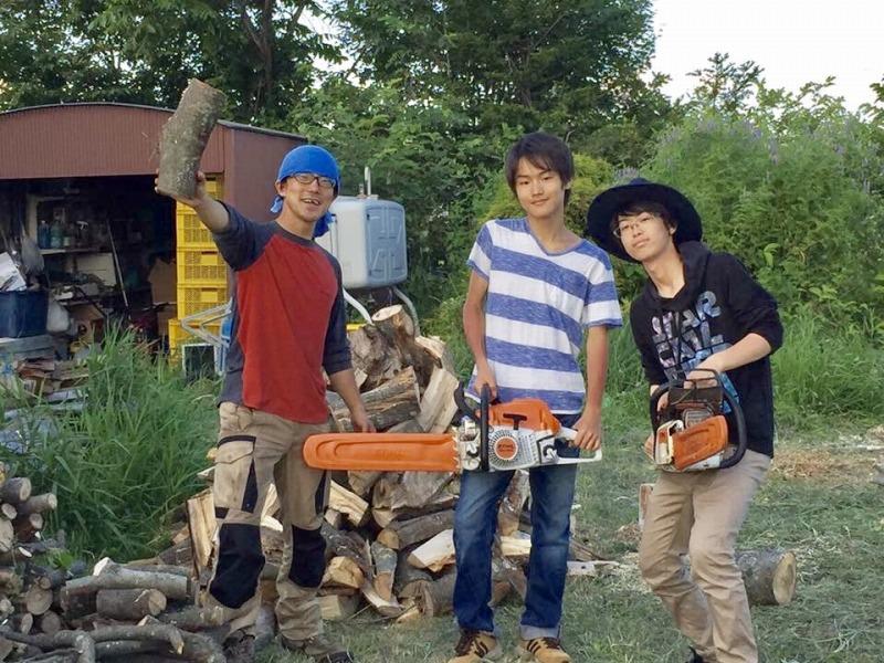 庭木伐採&薪づくり