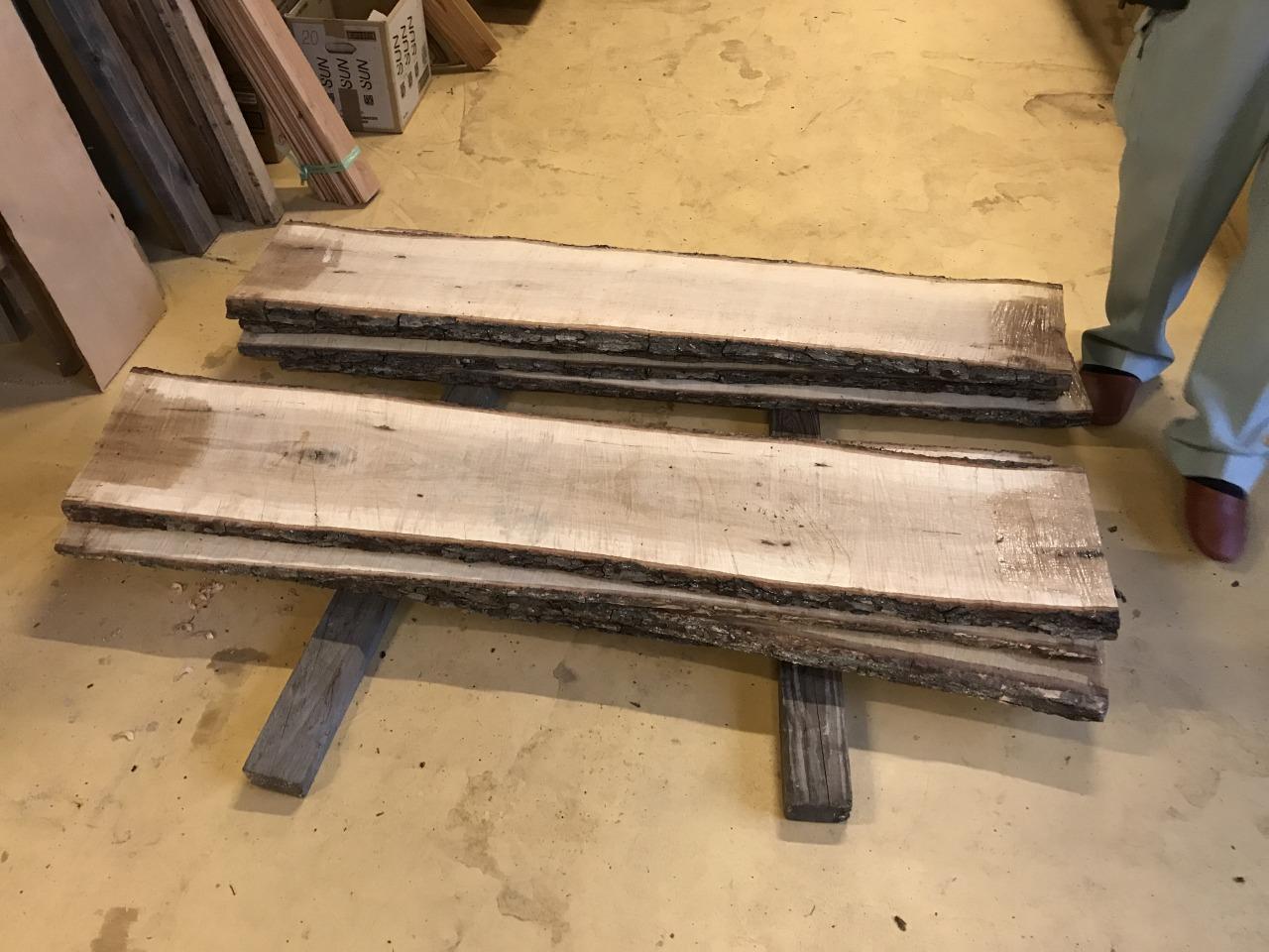 無垢板の乾燥終了