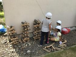 旭川の児童センターでキコリの出張